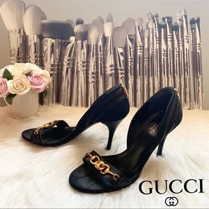 Rare! Authentic Gucci Guccissima GG Logo Pumps